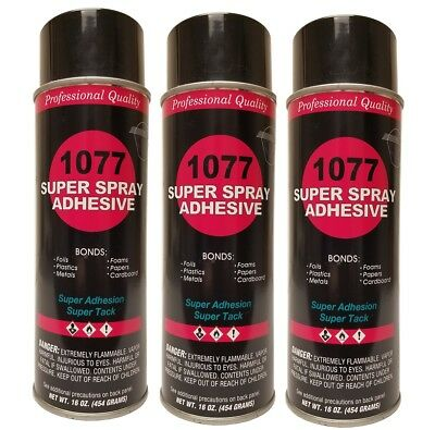 Package of 3 V&S 1077 Super Spray Adhesive Fine Mist spray Pattern
