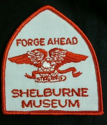 """Forge Ahead Shelburne Museum Patch 3"""" long"""