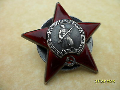 Russian Order of the Red Star Low # 532047 Circ 1944 Original WW2