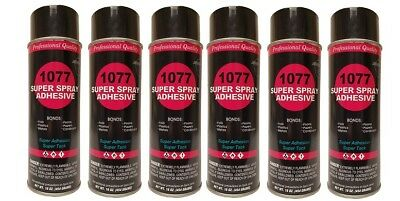 Package of 6 V&S 1077 Super Spray Adhesive Fine Mist Spray Pattern