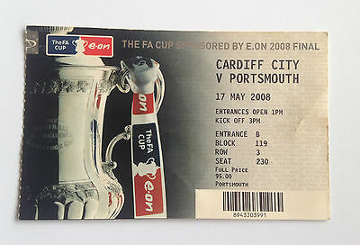 2008 FA Cup Final CARDIFF v PORTSMOUTH match ticket