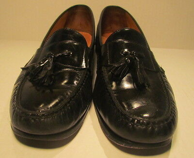 Men's Cole Haan Patent Leather Black Tassel Loafers size 12M