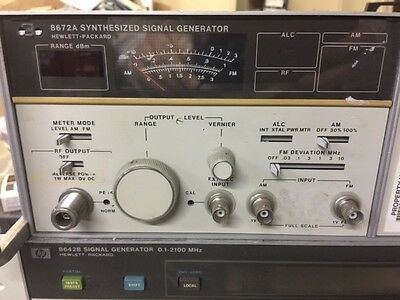 HP 8672A Synthesized Signal Generator 2-18 GHZ Opt 008 - Parts