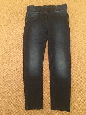 Girls Jeggings Age 5-6 Navy Blue From F&F