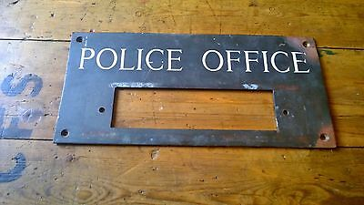 Reclaimed 1920's Birmingham Police Office Letter Plate Box Plaque Bronze Ceramic