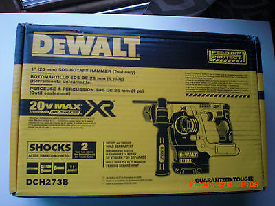 "DeWalt DCH273B 20V Max  Brushless 1"" SDS Rotary Hammer(Tool Only) New"