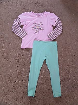 VERY CUTE!! Girl's NEXT, CHEROKEE Outfit Age 4 Perfect for Autumn Top & Leggings