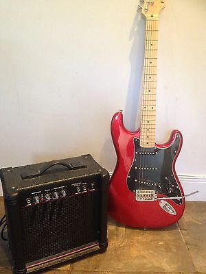 Red Westfield Electric Guitar With Amp