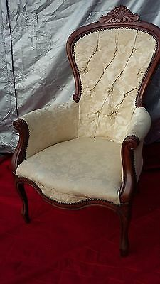 Antique Buttoned Back Chair