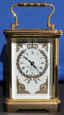 Vintage Garrard Ltd Editon Buckingham Palace 8 Day Brass Carriage Clock Serviced