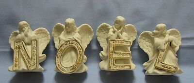 Set of Bisque NOEL Angel Figures