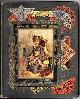 Antique Victorian Trade Card, Die Cut, Greetings, Calling Cards Scrapbook Album