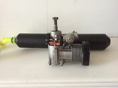 YS 91 ST model helicopter engine with Align 90 high performance muffler/exhaust