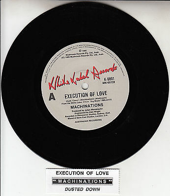 "MACHINATIONS Execution Of Love 7"" 45 rpm vinyl record + juke box title strip NEW"