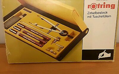 ROTRING TECHNICAL DRAWING Master Bow COMPASS SET GERMAN MADE (f1)