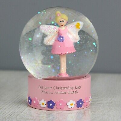 Personalised My First 1st Birthday Fairy Snow Globe Gift for Baby Babies Child