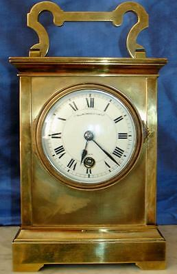 Antique Giant French Two Train 8 Day Striking Carriage Clock Collingwood & Son