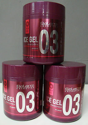 SALERM ICE GEL 500 ml CERA CAPILAR. 03 PROLINE 3 UNIDADES