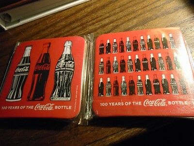 100 Years Of The Coca-Cola Bottle Coaster Sets (4 Coasters Total)