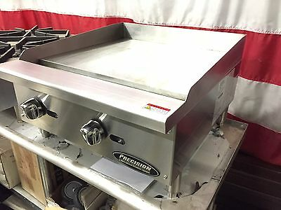 """New 24"""" Flat Griddle Grill Commercial Restaurant Heavy Duty Nat Or Lp Gas"""