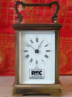 Vintage French Shakespear Co Classic Corniche 8 Day Timepiece Carriage Clock