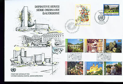 2002 LARGE FDC UN NY-G-V Individual Stamps = Definitive Issues