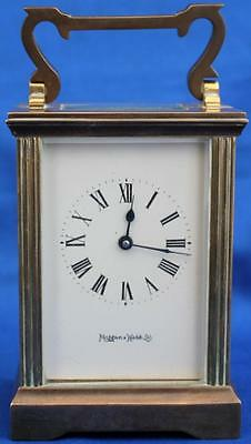 Vintage French Mappin & Webb Classic Corniche 8 Day Timepiece Carriage Clock