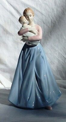 Collectible Porcelain Mother and Child Figurine 9.5 inch tall