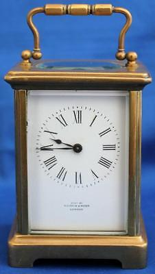 Antique Mappin & Webb French 8 Day Corniche Timepiece Mantle Carriage Clock