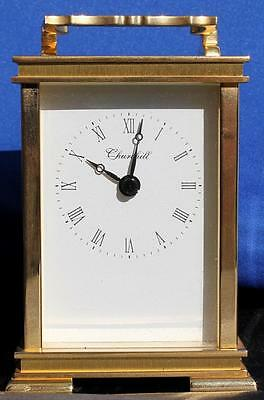 Churchill Quartz Solid Brass Vintage Carriage Clock