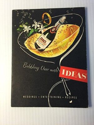 1949 AMERICAN WINE COMPANY Cook's Champagne Recipes for Weddings Entertaining