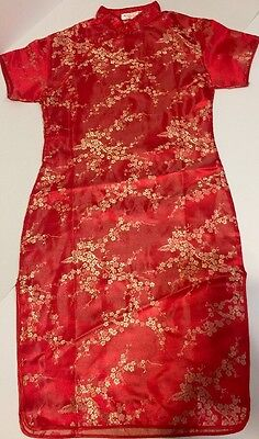 Asian Chinese Traditional Red Dress Size 16 Girls