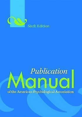 NEW Publication Manual of the American Psychological Association By American Psy