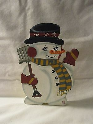 Christmas/Holiday Decoration--Handmade And Hand Painted Wooden Snowman