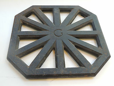Grate Cast Iron Engraved Letter G