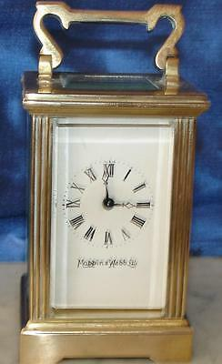 Vintage French Mappin & Webb Miniature 8 Day Timepiece Boudoir Carriage Clock • EUR 411,32