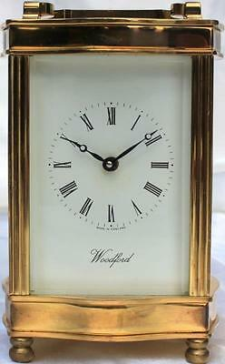 Woodford Vintage English Serpentine Doucine 8 Day Timepiece Carriage Clock