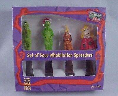 Dr. Seuss The Grinch Whobilation Set of 4 Spreaders EUC
