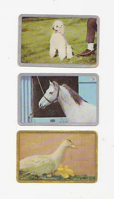 3 Single Newsagent Swap Cards With Gold Silver Boarders