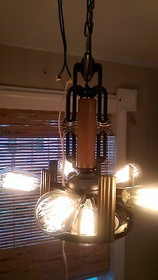 Markel 6 Light Chandelier 100% Restored Industrialized  Edison St64 60w Bulbs