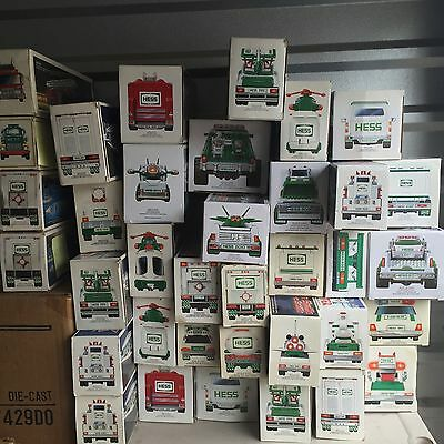 Huge Lot HESS Truck Lot 74 Trucks 1980-2014 NEW IN THE BOXES