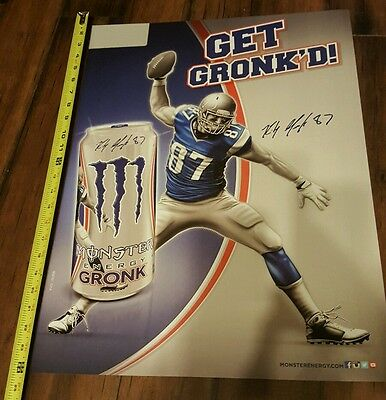 Rob Gronkowski Monster Poster Gronk 18x24 NFL New England Patriots