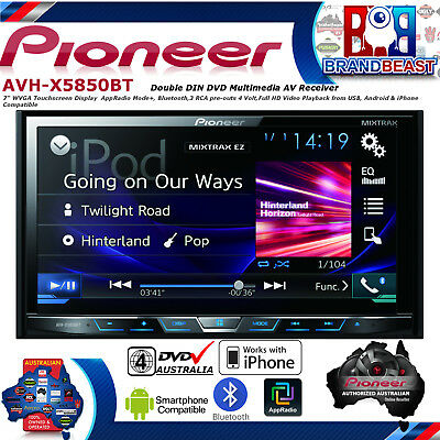 "New Pioneer Avh-x5850bt 7"" Bluetooth Ipod Iphone App Mode Android Usb Avhx5850bt"