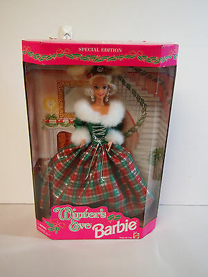 Special Edition Barbie Winter Eve Green & Red Dress w/ Fur Accents Christmas