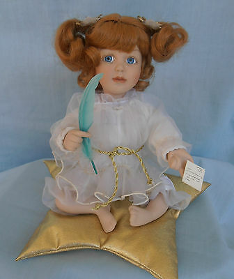 Lovely Seated Porcelain Girl Doll By Cindy M. McClure 1992