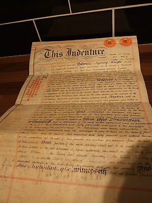 Lovely old Legal House Documents – Title Deeds – Indenture 21.07.1905