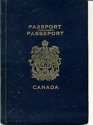 1941 Canada Expired Canceled Collectable Passport, Travel Document