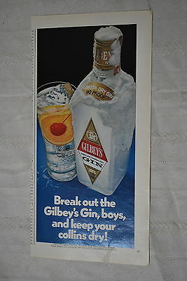 Gilbey's Gin 1971 Playboy Magazine ad - Very Good