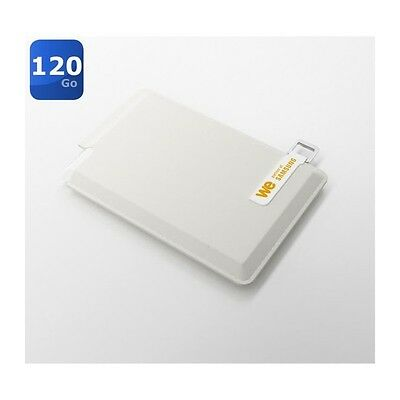 We SSD externe 120Go + Housse creme