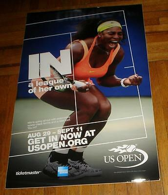 2016 Us Open Subway Poster Serena Williams Rare